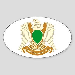 Libya Coat of Arms Emblem Sticker (Oval)