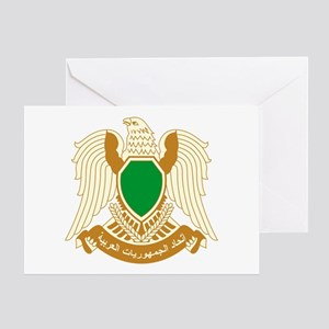 Libya Coat of Arms Emblem Greeting Card