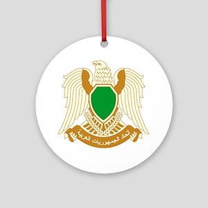 Libya Coat of Arms Emblem Ornament (Round)