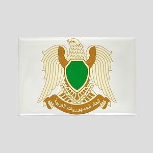 Libya Coat of Arms Emblem Rectangle Magnet