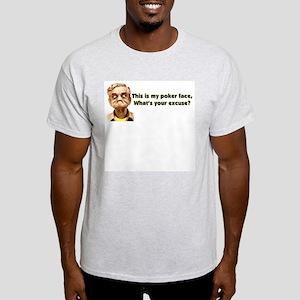 Poker Face Ash Grey T-Shirt