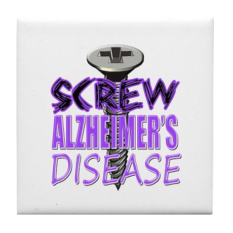 Screw Alzheimer's Disease Tile Coaster