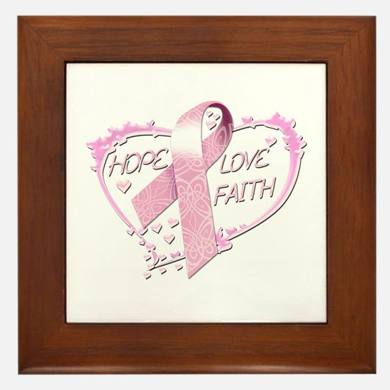 Hope Love Faith Framed Tile