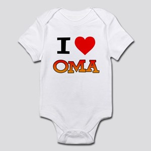 I Love Oma Infant Bodysuit