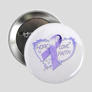 """Hope Love Faith 2.25"""" Button"""