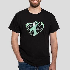 Hope Love Faith Dark T-Shirt