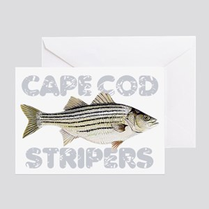 Cape Cod Stripers Greeting Card