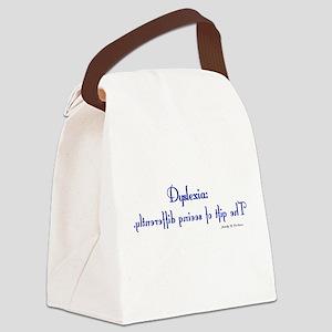 dyslexia2 Canvas Lunch Bag