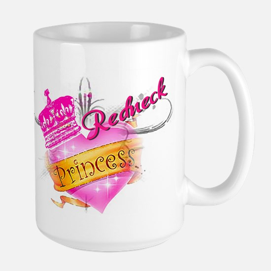 REDNECK PRINCESS (HEART) Large Mug