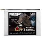 Infinite Funds Elephant Makeup Bag