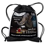 Infinite Funds Elephant Drawstring Bag