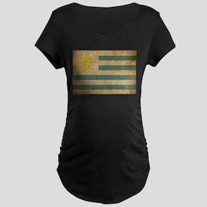 Vintage Uruguay Flag Maternity Dark T-Shirt