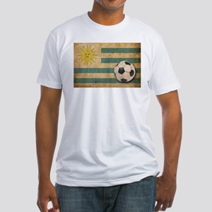 Vintage Uruguay Football Fitted T-Shirt