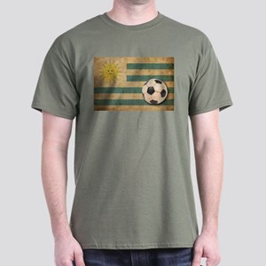 Vintage Uruguay Football Dark T-Shirt