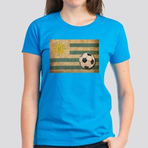 Vintage Uruguay Football Women's Dark T-Shirt
