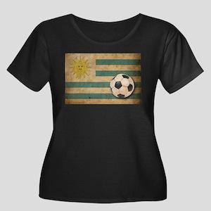 Vintage Uruguay Football Women's Plus Size Scoop N