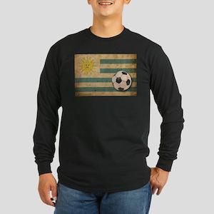Vintage Uruguay Football Long Sleeve Dark T-Shirt