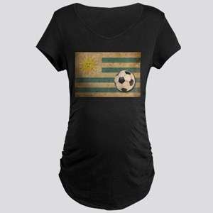 Vintage Uruguay Football Maternity Dark T-Shirt