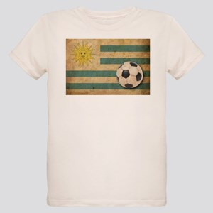 Vintage Uruguay Football Organic Kids T-Shirt