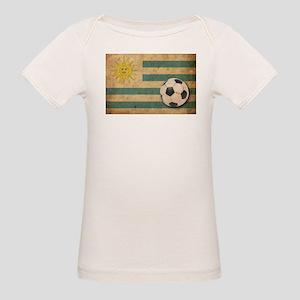 Vintage Uruguay Football Organic Baby T-Shirt