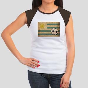 Vintage Uruguay Football Women's Cap Sleeve T-Shir