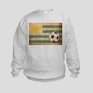 Vintage Uruguay Football Kids Sweatshirt