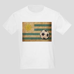 Vintage Uruguay Football Kids Light T-Shirt