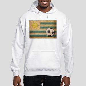 Vintage Uruguay Football Hooded Sweatshirt
