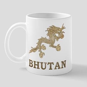 Vintage Bhutan Mug
