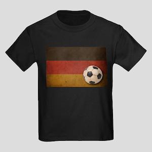 Vintage Germany Football Kids Dark T-Shirt