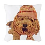 A Warm Winter's Yawn Woven Throw Pillow