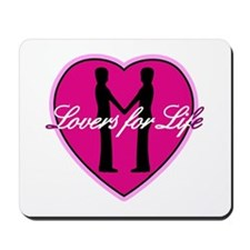Lovers for life: 2 males Mousepad