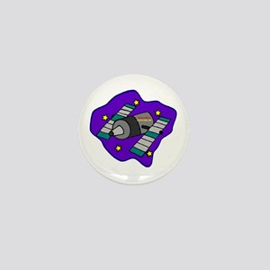 Cartoon Satelite Mini Button