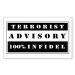 Terrorist Advisory Sticker (Rectangle)