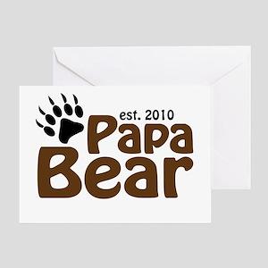 Papa Bear Claw 2010 Greeting Card