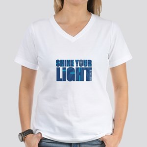 Shine Your Light - Women's V-Neck T-Shirt