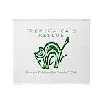 TCR logo Green Throw Blanket