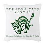 TCR logo Green Woven Throw Pillow