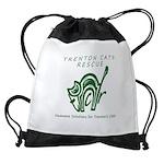 TCR logo Green Drawstring Bag