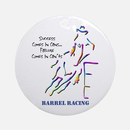 Barrel Racing Ornament (Round)