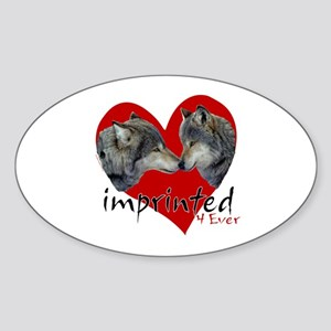 Imprinted 4 Ever Wolves Sticker (Oval)
