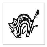 TCR logo symbol Square Car Magnet 3