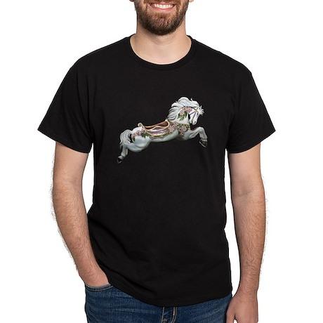 White Jumper Carousel Black T-Shirt