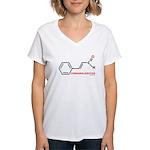 MolecularShirts Cinnamaldehyd Women's V-Neck T-Shi
