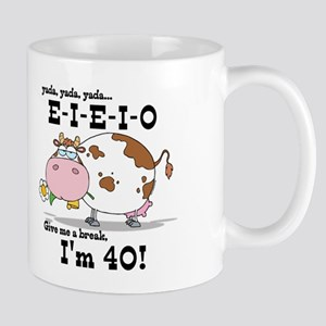 EIEIO 40th Birthday Mug