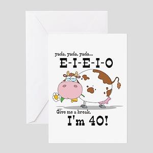EIEIO 40th Birthday Greeting Card
