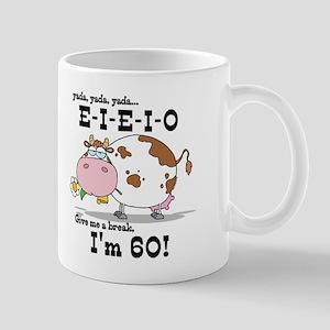 EIEIO 60th Birthday Mug