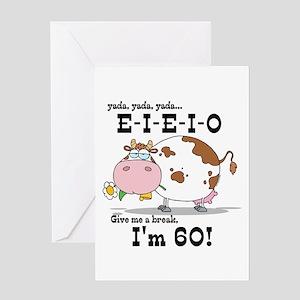 EIEIO 60th Birthday Greeting Card