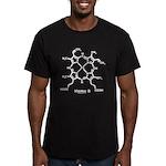 Molecularshirts.com Heme Men's Fitted T-Shirt (dar
