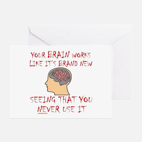 BRAIN HUMOR Greeting Cards (Pk of 20)